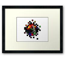 Snake & Lips (Space Edition) Framed Print
