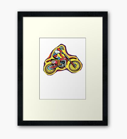Vintage Dirtbike Maico Decal 70's Framed Print