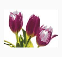 Tulips In The Morning Light - Digital Oil Kids Tee