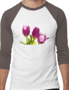Tulips In The Morning Light - Digital Oil Men's Baseball ¾ T-Shirt