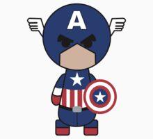 Capitain America Cartoon by rasgadow
