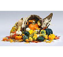 Cornucopia of Thanksgiving Photographic Print