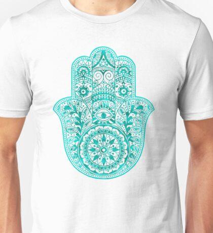 Turquoise Hamsa Hand Unisex T-Shirt