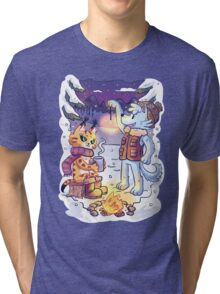 Goldwood Chronicles: Mia and Heidy Winter  Tri-blend T-Shirt