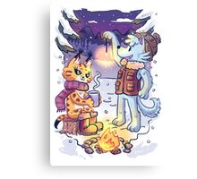 Goldwood Chronicles: Mia and Heidy Winter  Canvas Print