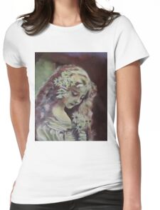 Vintage - Original Acrylic Painting Womens Fitted T-Shirt
