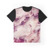 Pink Marble 01 Graphic T-Shirt
