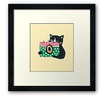 Photographer Cat Framed Print