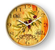 024 Wall Clock Olives with branch Clock