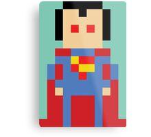 8-Bit Superman Metal Print