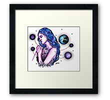 Gaia - Watercolor Painting Framed Print