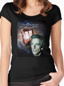Somewhere...  (Dr. Who) Women's Fitted Scoop T-Shirt
