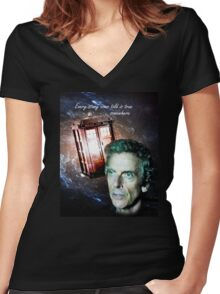 Somewhere...  (Dr. Who) Women's Fitted V-Neck T-Shirt