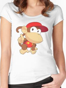 Super Smash Bros. Diddy Kong Women's Fitted Scoop T-Shirt