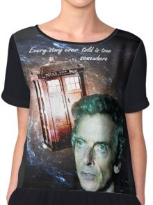 Somewhere...  (Dr. Who) Chiffon Top