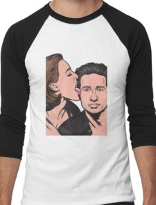 Mulder and Scully X Files Men's Baseball ¾ T-Shirt