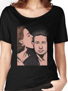 Mulder and Scully X Files Women's Relaxed Fit T-Shirt