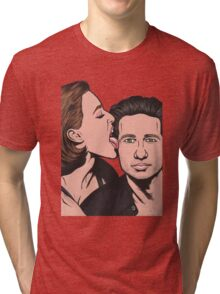 Mulder and Scully X Files Tri-blend T-Shirt