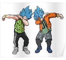 Goku and Vegeta Dabs - Dragon Balls Anime T shirt Poster