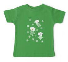 Three Feline Snowflake Pals Baby Tee
