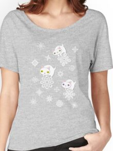 Three Feline Snowflake Pals Women's Relaxed Fit T-Shirt