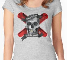 Yoga: Death Before Childs Pose Women's Fitted Scoop T-Shirt