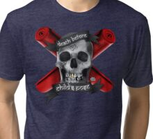 Yoga: Death Before Childs Pose Tri-blend T-Shirt