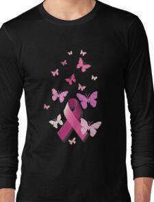 Breast Cancer Pink Awareness Ribbon Long Sleeve T-Shirt