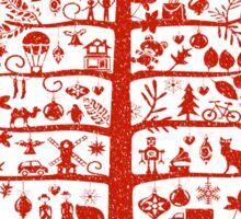 Funny Christmas Tree Sticker
