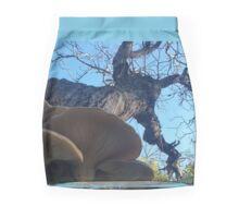 Walnut Shelf Fungal Conks Mini Skirt