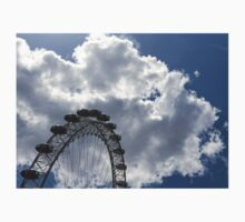 Color Coordinated Skyward View - the London Eye Against Dramatic Sky Kids Tee