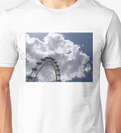 Color Coordinated Skyward View - the London Eye Against Dramatic Sky Unisex T-Shirt