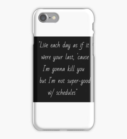 Joss Whedon quote iPhone Case/Skin