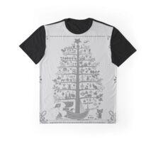 Funny Christmas Tree (gray) Graphic T-Shirt