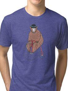 Bear On A Bicycle Tri-blend T-Shirt