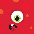 IPhone :: one-eyed monster face shock - red by Kat Massard