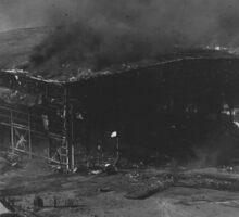 Burning Hangar WWII Pearl Harbor Sticker