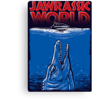 Jawrassic World (jurassic world/Jaws) Canvas Print
