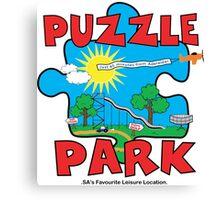 Puzzle Park by Decibel Clothing  Canvas Print