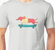 Skateboarding Dog Unisex T-Shirt