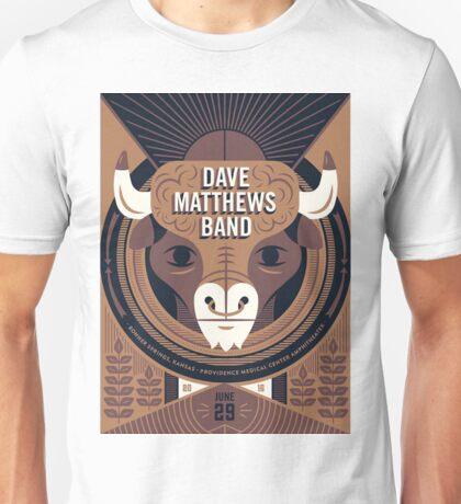 Dave Matthews Band, Tour 2016, Providence Medical Center Amphitheater Bonner Springs KS Unisex T-Shirt