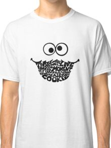 Cookie Monster Typography  Classic T-Shirt