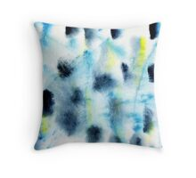 Watercolor abstract spots in the Scandinavian style Throw Pillow
