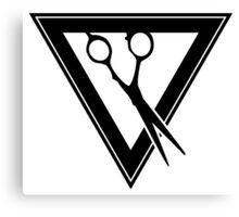 triangle scissors Canvas Print