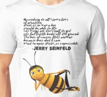 Jerry Seinfeld from The Bee Movie Unisex T-Shirt
