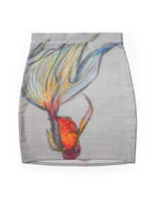 Goldfish Pond (close up #7) Mini Skirt