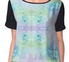 Under Water Leaves Chiffon Top