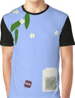 Teatime on Blue Graphic T-Shirt