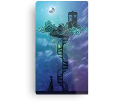 Blue Box in the Victorian Sky Metal Print