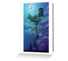 Blue Box in the Victorian Sky Greeting Card